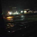 養父市八鹿町 2018年7月6日 梅雨前線の増水した八木川1